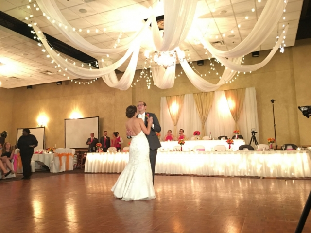 Bride and Groom share the floor for their first dance