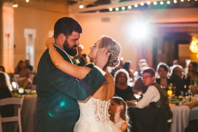 Husband and wife first dance